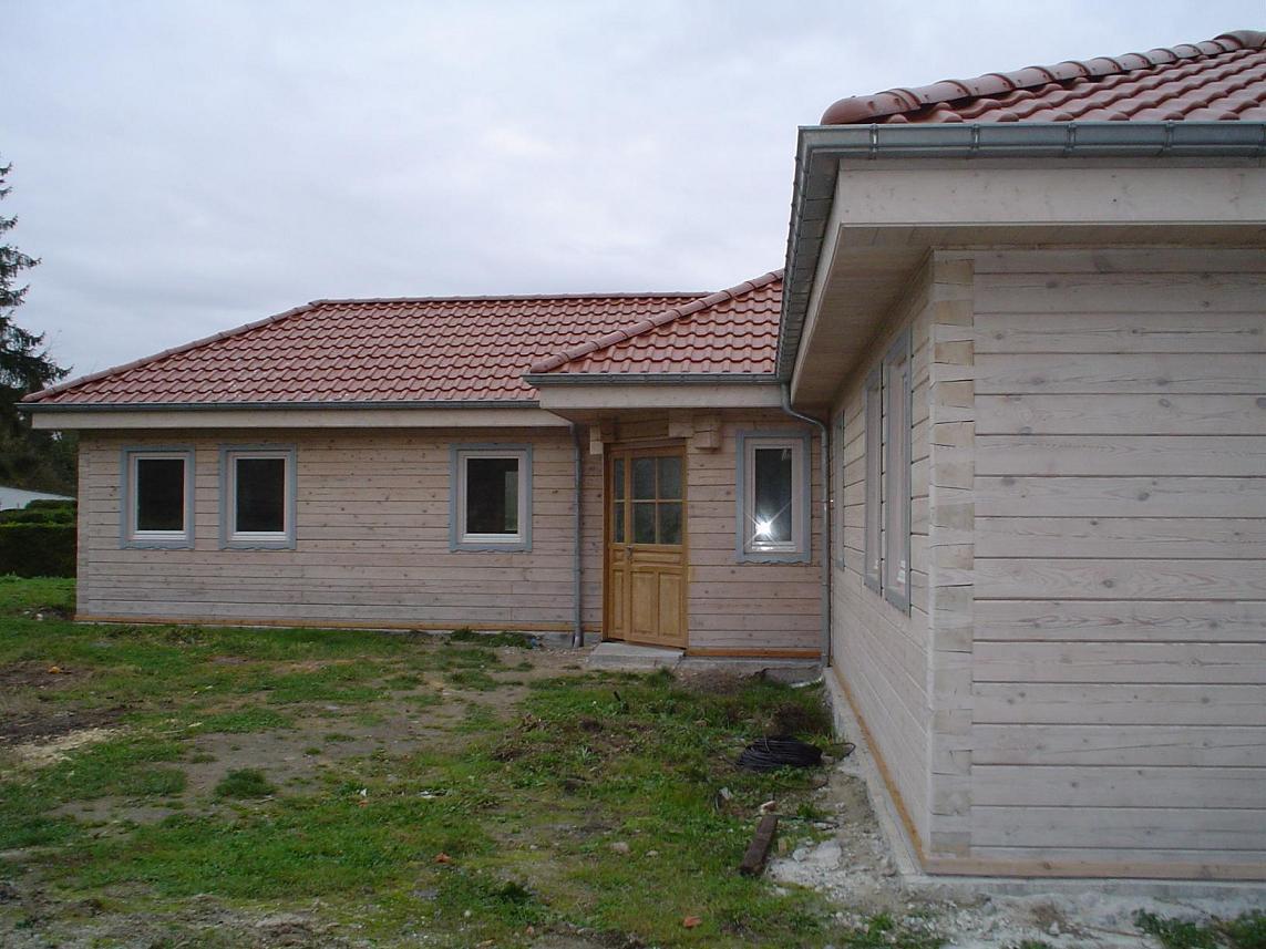 Fen tre bois 78mm triple vitrage maison bois madrier for Autoconstruction maison prix