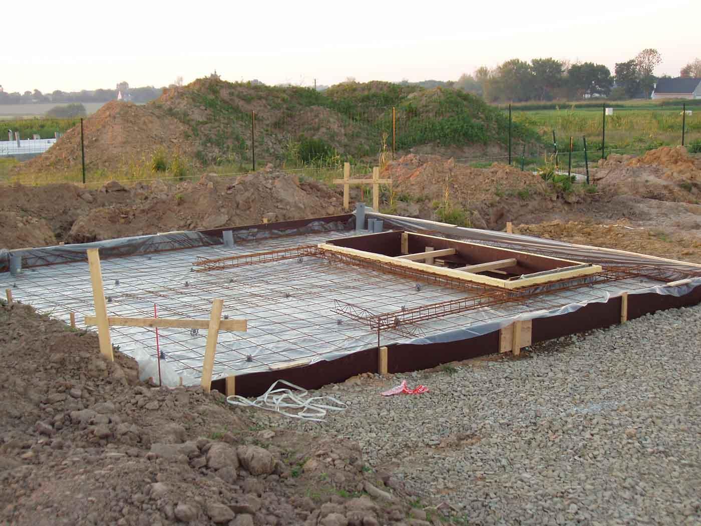 Construction de la dalle du garage autoconstruction for Epaisseur dalle garage