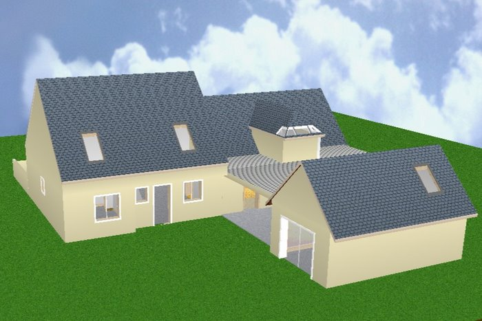 Un agrandissement en b ton cellulaire autoconstruction construire sa maison soi m me - Maison en kit beton cellulaire ...