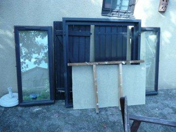 remplacement d 39 une fen tre par une porte fen tre dans une maison ossature bois. Black Bedroom Furniture Sets. Home Design Ideas